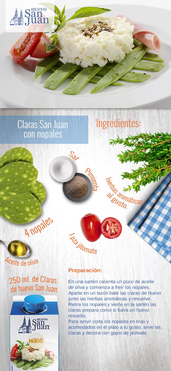 Como cocinar las claras de huevo soyactitud for Cocinar nopal