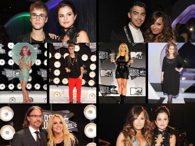 Mujeres Música Katy Perry Cabello Azul Desgaste Cantantes: Las Mejores Fotos De Los Premios MTV