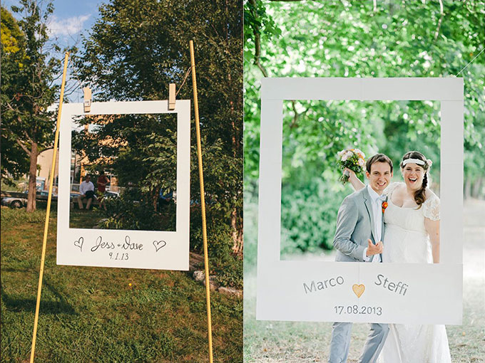 Marcos originales para que tus invitados se tomen fotos en tu boda actitudfem - Marcos para cuadros originales ...