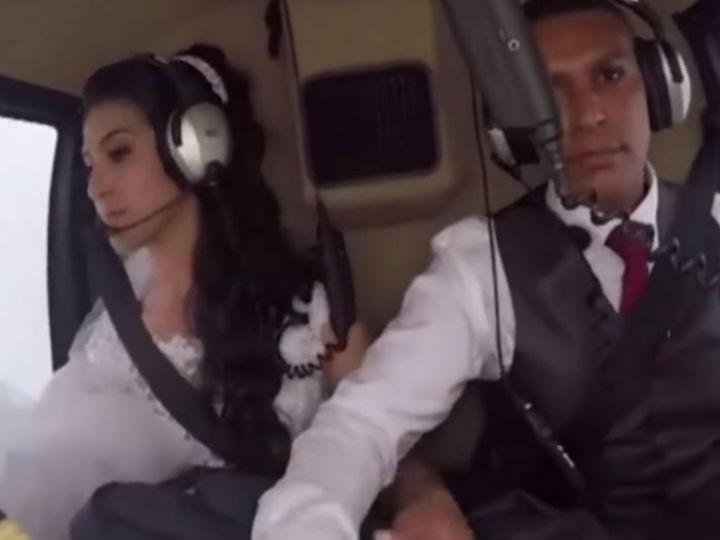 Iba a su boda en helicóptero y terminó en tragedia — Impactante video