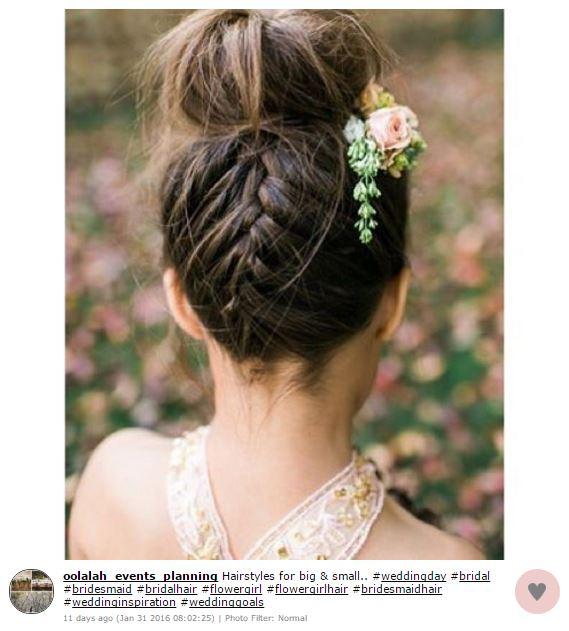 peinados para las pajecitas de tu boda