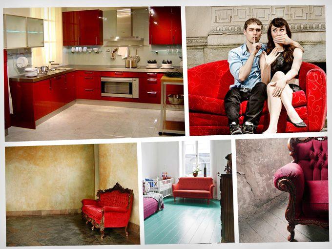 Decoracion roja soyactitud for Decoracion casa rojo
