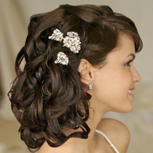 Peinados para pelo medio para boda