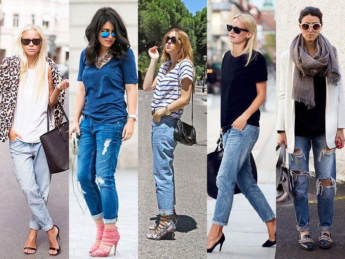 10 looks para usar tus boyfriend jeans [fotos]