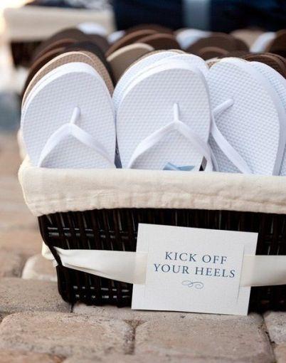 sandalias para que los invitados no se cansen