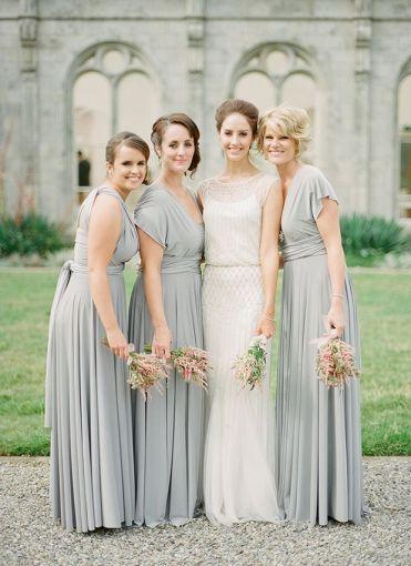 Vestidos Color Gris Para Damas De Boda Fotos Soyactitud