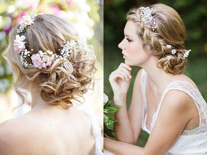 peinados con coronas de flores para tu boda with peinados famosas bodas