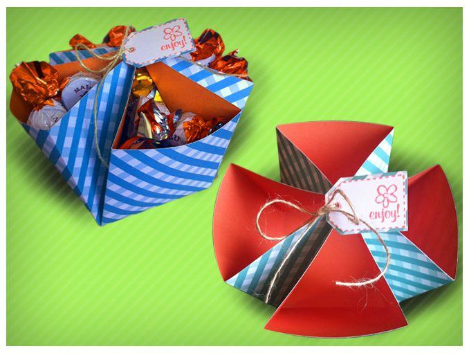 Como hacer cajas de regalo tutorial actitudfem - Como hacer cajas de cartulina ...