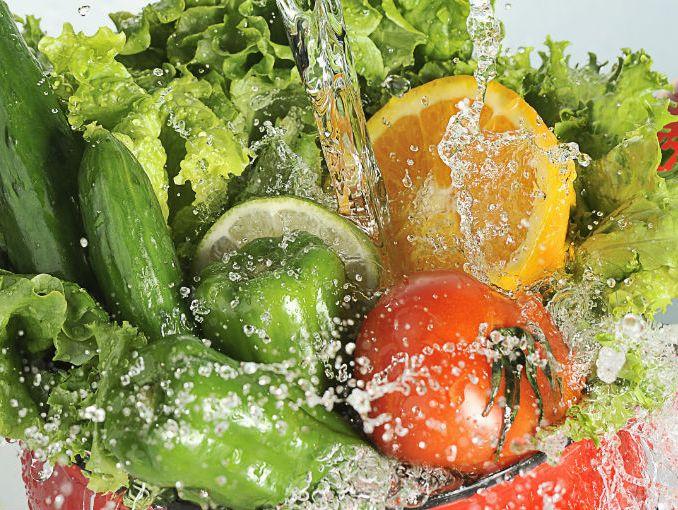 cmo lavar frutas y verduras