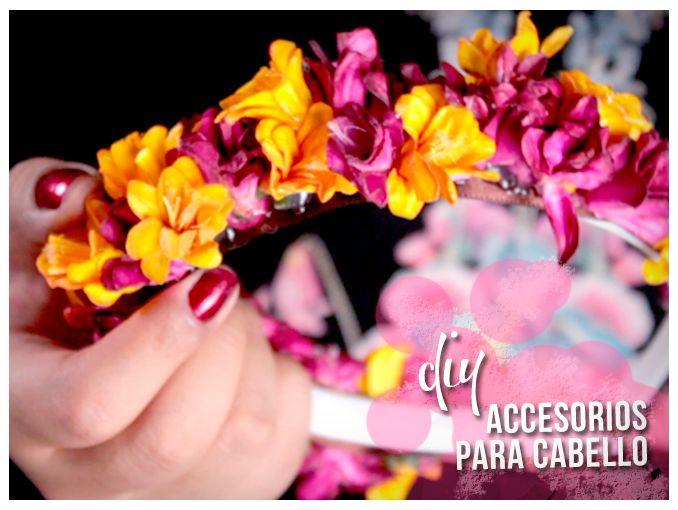 tutorial diadema con flores