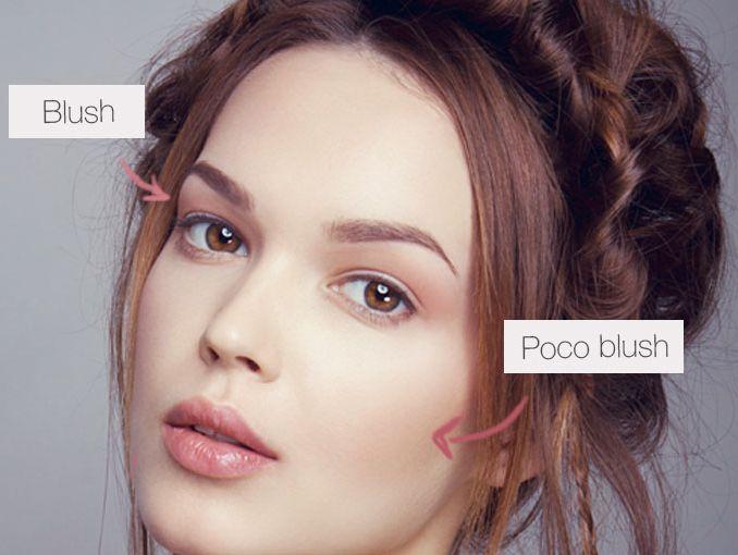 maquillaje natural en rosa