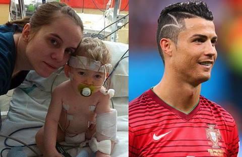 Cristiano Ronaldo Rinde Tributo A Nino Enfermo Con Corte De Cabello