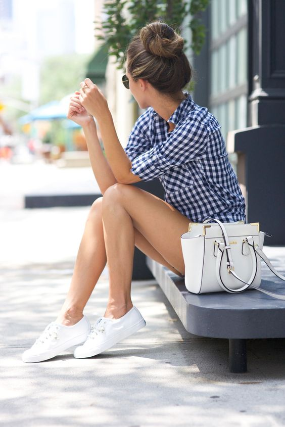 10 Formas De Usar Tenis Blancos Sin Verte Informal Actitudfem