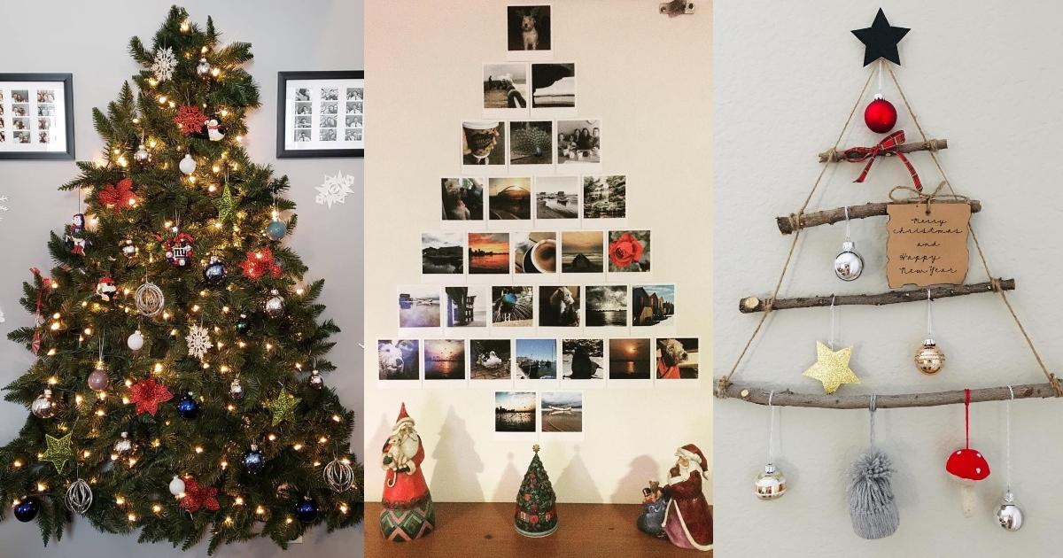 árboles De Navidad En La Pared Con Escarcha Con Luces Y Otras Ideas Actitudfem