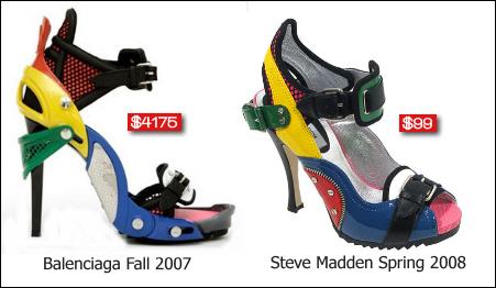 Ésta no es la primera vez que Balenciaga se enfrenta a Steve Madden en la  corte, en 2007 acusó a la compañía de copiar los fabulosos zapatos de Lego  creados ...