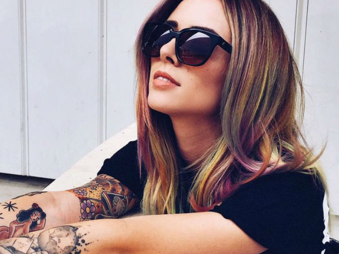 colourful full hairstyle 2017