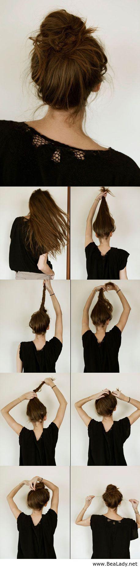 Chongos flojos en cabello corto