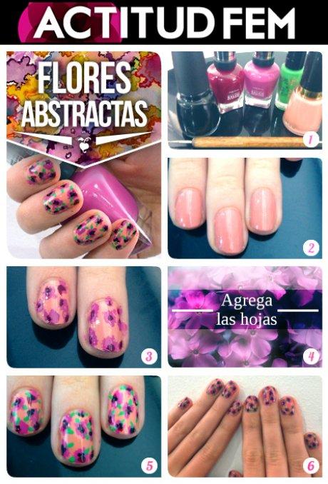 Tutorial Manicure Flores 2013 Actitudfem
