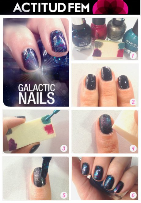 Tutorial: manicure galaxia