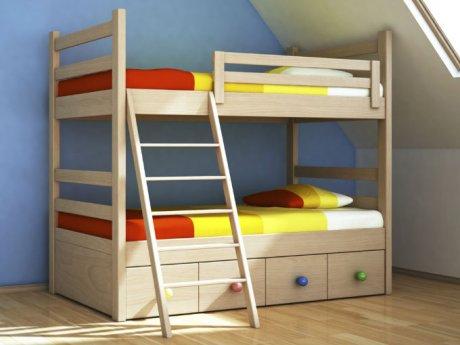 Cuarto de ni os ordenado actitudfem - Doble cama para ninos ...