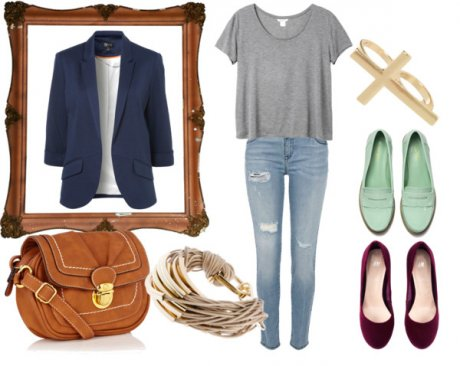 Como combinar un blazer azul de mujer
