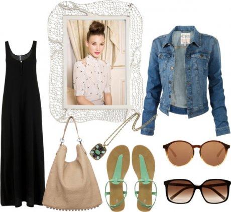 Como usar un vestido negro largo de dia