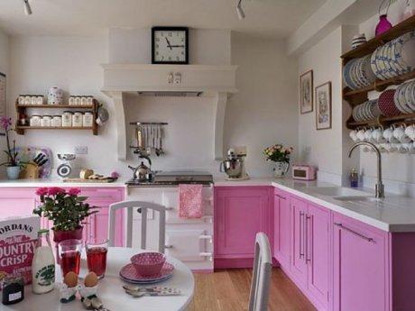 Como decorar con rosa actitudfem - Cocinas rosa fucsia ...