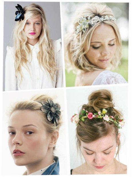 Peinados con guias de flores
