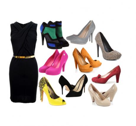Zapatos para vestido de noche negro