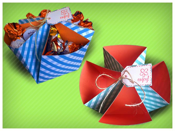 Como hacer cajas de regalo tutorial actitudfem - Como hacer cajitas de cartulina ...
