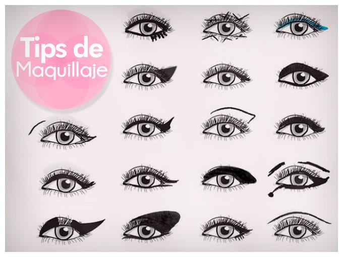 10 formas de delinear tus ojos actitudfem for Distintas formas de maquillarse los ojos