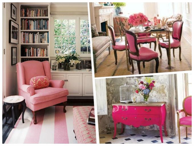 Como decorar con rosa actitudfem - Fotos de salones decorados de casas ...