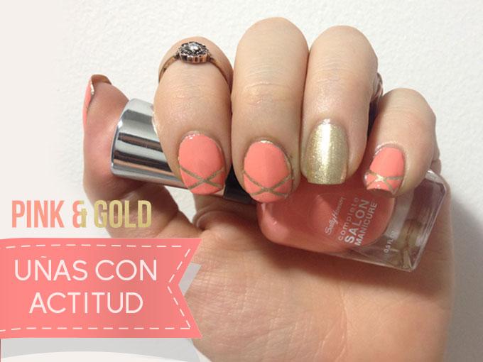 Manicure Con Dorado Y Rosa Fotos Actitudfem