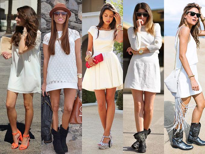 Con que combinar un vestido blanco de encaje