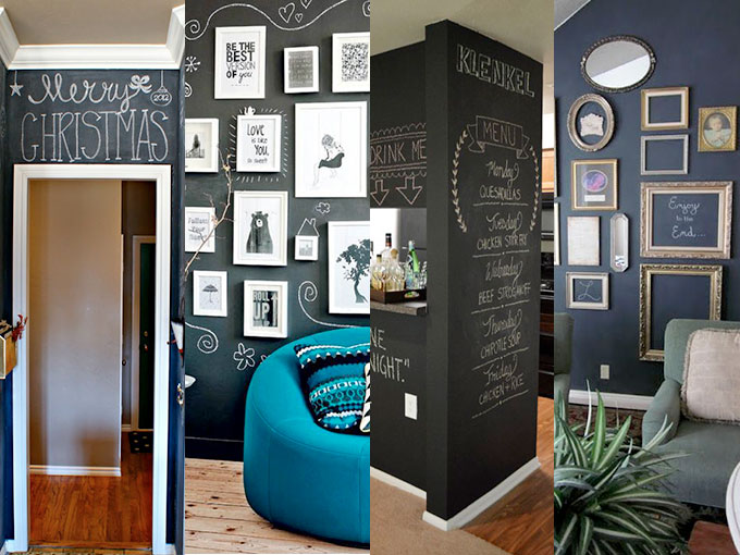 10 ideas para animarte a pintar una pared de pizarr n - Ideas para pintar una pared ...