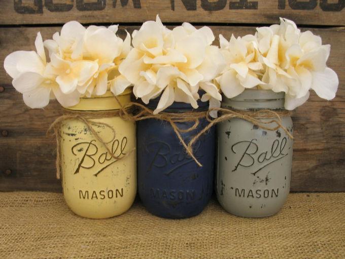 C mo decorar con mason jars fotos soyactitud - Accesorios hogar originales ...