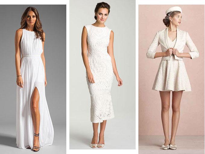 Vestidos elegantes largos para boda civil