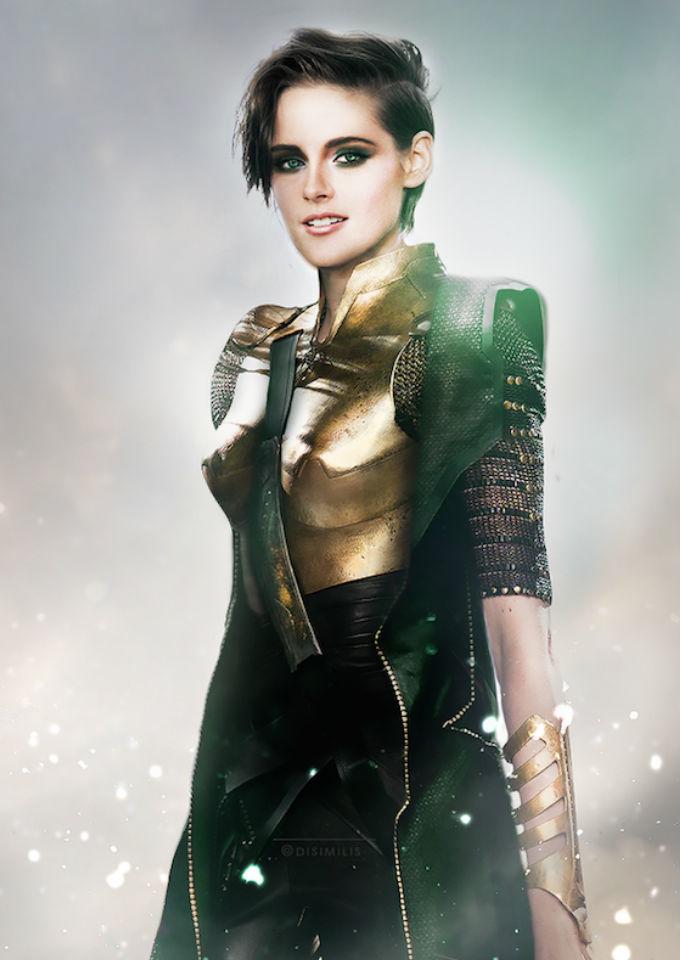 Kristen Stewart como Loki / Ágnes Domokos