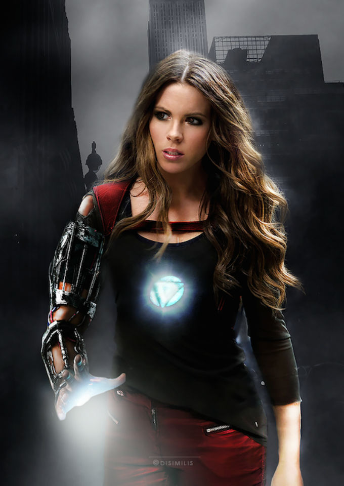 Kate Beckinsale como Iron Man / Ágnes Domokos