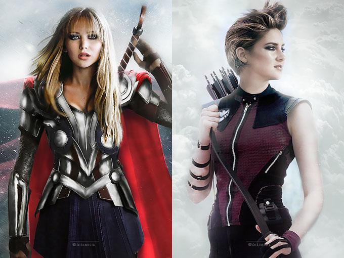 Marvel ha sido acusado de sexismo, por eso la artista Ágnes Domokos imaginó cómo serían los superhéroes si fueran interpretados por chicas. El resultado es éste.