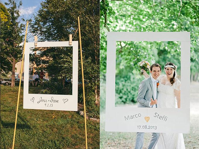 Marcos originales para que tus invitados se tomen fotos en tu boda actitudfem - Marcos de cuadros originales ...
