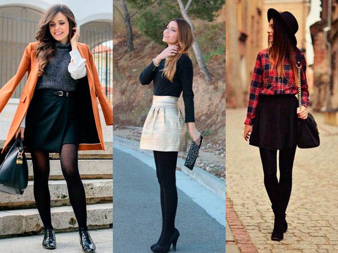 e2c291981 Inspiración para usar faldas cortas en invierno | ActitudFem