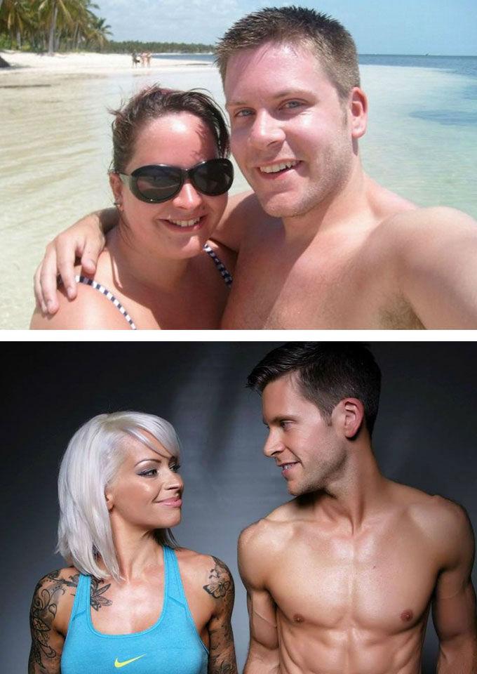 Los hermosos tórtolos quisieron lograr su meta ideal y mira cómo quedaron después de un buen entrenamiento y alimentación balanceada. (5 años después se casaron) / Especial.