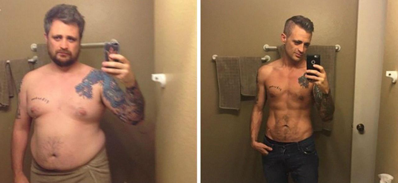 En un año, con constancia y esfuerzo él se deshizo de casi 50 kilogramos / Especial.