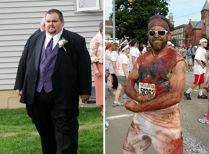 Y qué tal este hombre que pasó de 250 kilogramos a 100 kilos. Se ve increíble / Especial.