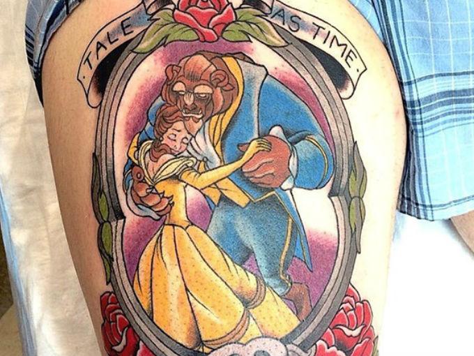 Tatuajes De La Bella Y La Bestia Actitudfem