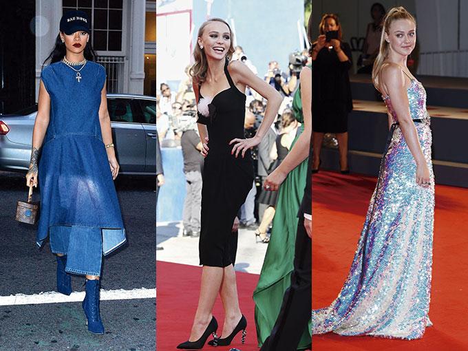 El negro, las lentejuelas y el terciopelo, estuvieron presentes en los outfits más chic de las famosas, quienes los llevaron desde las calles de Nueva York hasta la alfombra roja del Festival de Cine de Venecia.