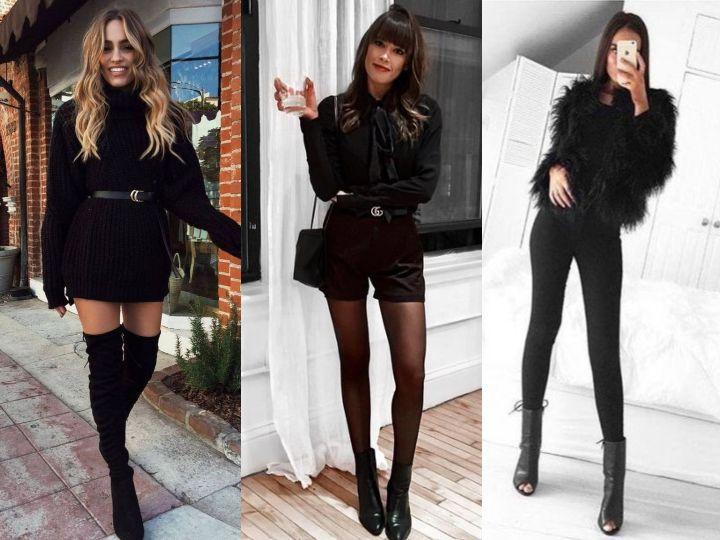 Outfits en negro para recibir el Año Nuevo toda darks y sensual