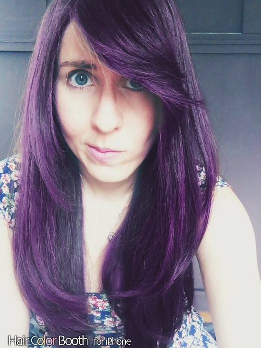 Baño De Color Rojo Para El Pelo:Quieres saber cómo se te vería el cabello azul? Usa esta app