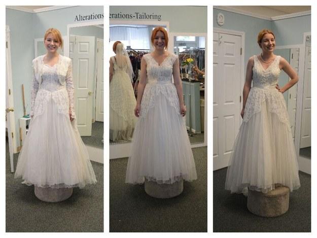 La novia que usó el mismo vestido que su mamá y su abuela en su boda ...